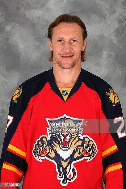 Alex Kovalev of the Florida Panthers poses for his official headshot for the 20122013 NHL season on January 13 2013 in Coral Springs Florida