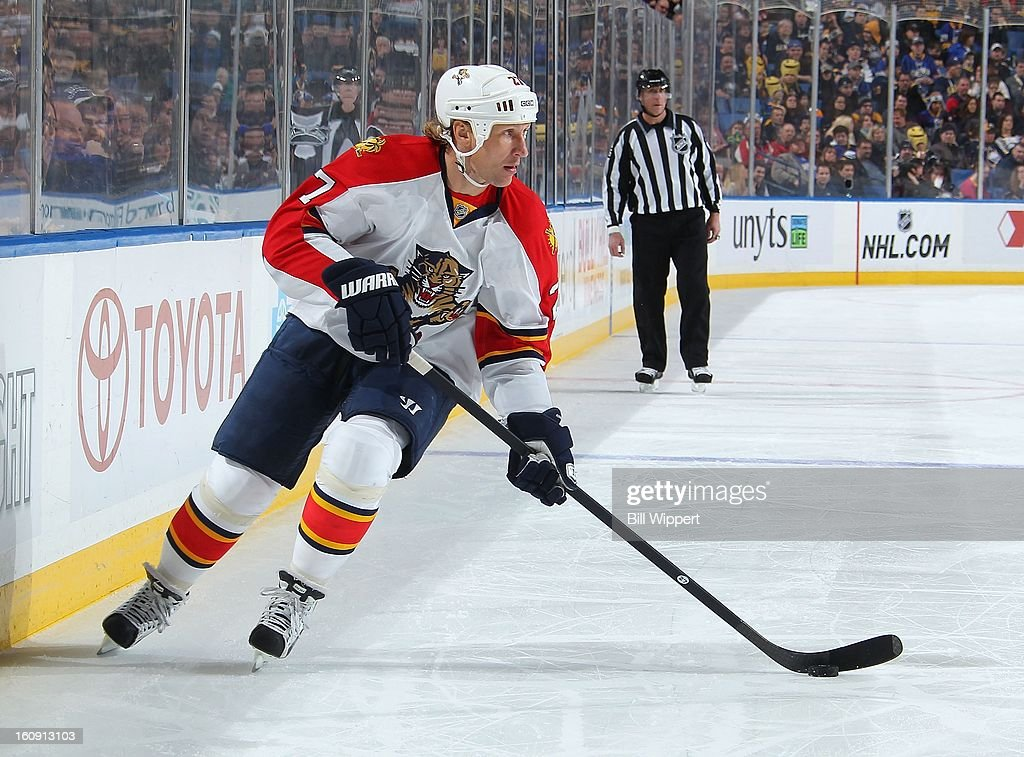 Alex Kovalev #27 of the Florida Panthers skates against the Buffalo Sabres on February 3, 2013 at the First Niagara Center in Buffalo, New York.