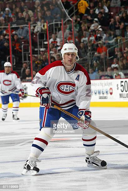Alex Kovalev of the Montreal Canadiens skates against the Philadelphia Flyers on March 6 2006 at the Wachovia Center in Philadelphia Pennsylvania The...