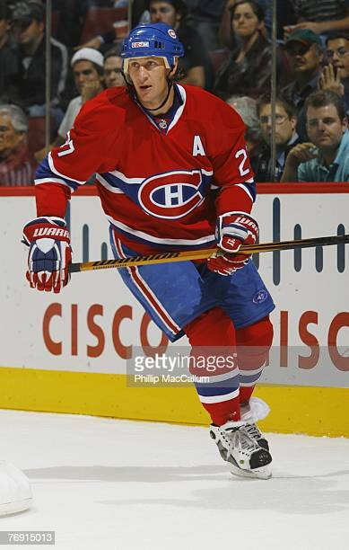 Alex Kovalev of the Montreal Canadiens skates against the Pittsburgh Penguins during a pre-season game on September 17, 2007 at the Bell Centre in...