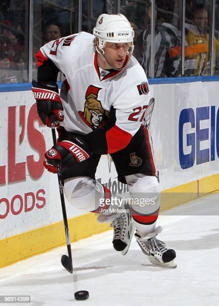 Alex Kovalev of the Ottawa Senators skates against the New York Islanders on February 14 2010 at Nassau Coliseum in Uniondale New York