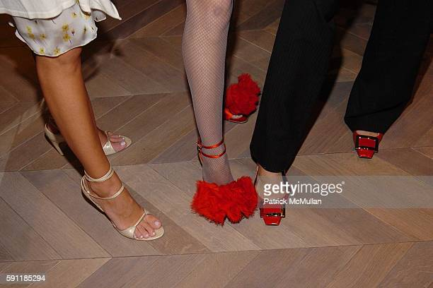 Alex Kramer Sally Albemarle Cristina Greeven Cuomo and All Wearing ROGER VIVIER shoes attend Saks Fifth Avenue hosts a cocktail party to celebrate...