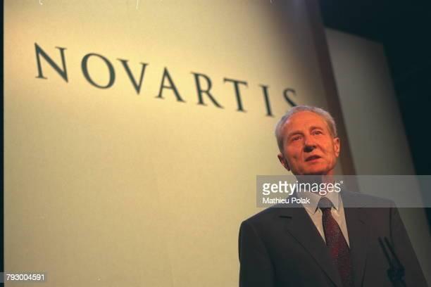 Alex Krauer Chairman of the Board of Novartis born of the merger of Ciba and Sandoz