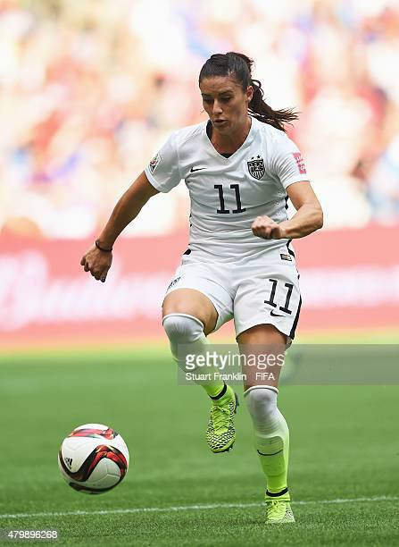 Alex Krieger of USA in action during the FIFA Women's World Cup Final between USA and Japan at BC Place Stadium on July 5 2015 in Vancouver Canada