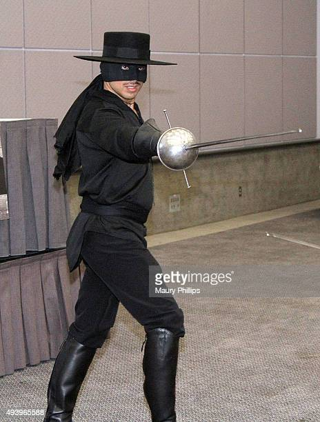 Alex Kruz performs at The Return of Zorro at the Los Angeles Convention Center on October 23 2015 in Los Angeles California