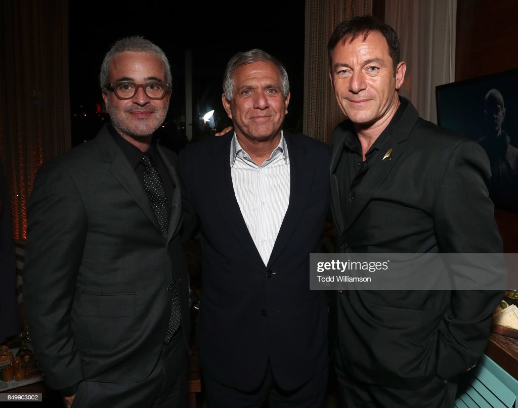 Alex Kurtzman, Leslie Moonves and Jason Isaacs attend the after party for the premiere of CBS's 'Star Trek: Discovery' at the Dream Hotel on September 19, 2017 in Los Angeles, California.