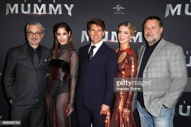 Alex Kurtzman Sofia Boutella Tom Cruise Annabelle Wallis and Russell Crowe arrive ahead of The Mummy Australian Premiere at State Theatre on May 22...