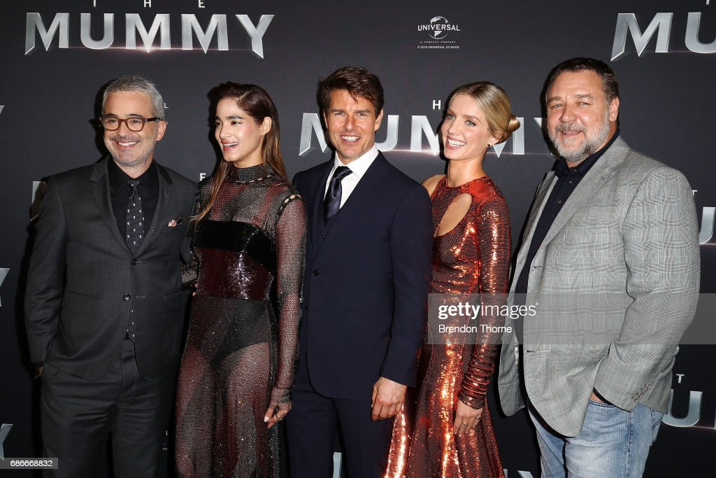 Alex Kurtzman, Sofia Boutella, Tom Cruise, Annabelle Wallis and Russell Crowe arrive ahead of The Mummy Australian Premiere at State Theatre on May 22, 2017 in Sydney, Australia.