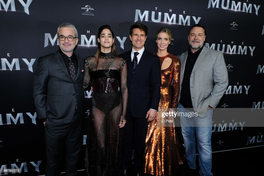 Alex Kurtzman, Sofia Boutella, Tom Cruise, Annabelle Wallis and Russell Crowe arrives ahead of The Mummy Australian Premiere at State Theatre on May 22, 2017 in Sydney, Australia.