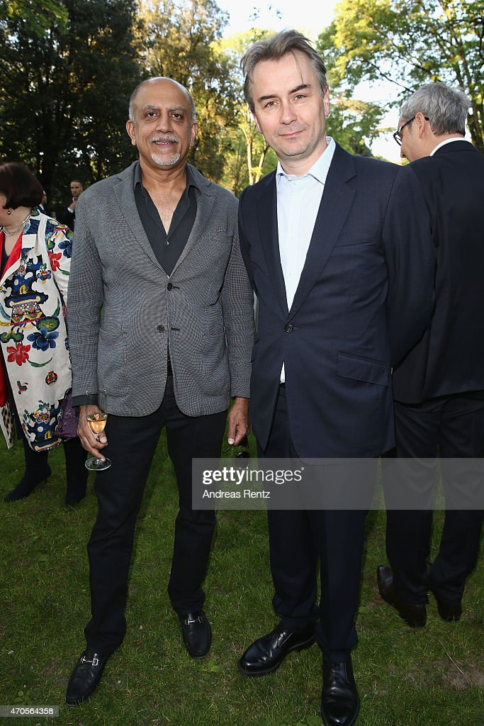 Alex Kuruvilla, CEO, Conde Nast India and Albert Read, Deputy Managing Director Conde' Naste UK attend the Conde' Nast International Luxury Conference Welcome Reception at Four Seasons Hotel Firenze on April 21, 2015 in Florence, Italy.