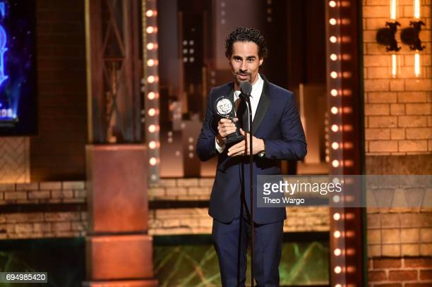 "Alex Lacamoire accepts the award for Best Orchestrations for ""Dear Evan Hansen"" onstage during the 2017 Tony Awards at Radio City Music Hall on June..."