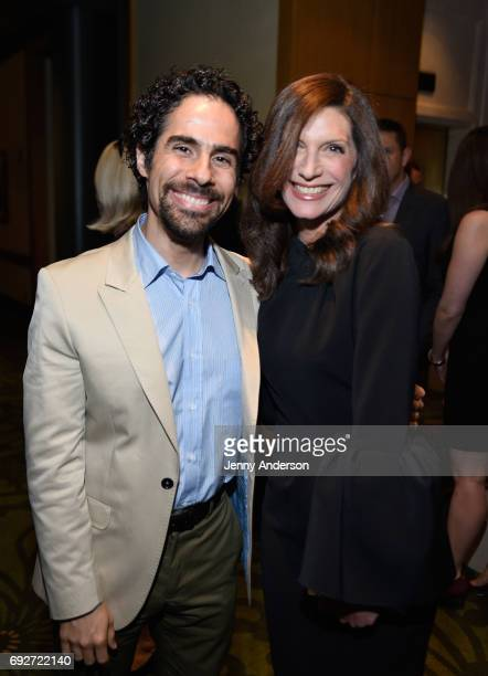 Alex Lacamoire and Stacey Mindich attend the Tony Honors Cocktail Party Presenting The 2017 Tony Honors For Excellence In The Theatre And Honoring...