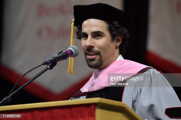 Alex Lacamoire is seen at the Berklee College of Music 2019 Commencement ceremony at Agganis Arena at Boston University on May 11 2019 in Boston...