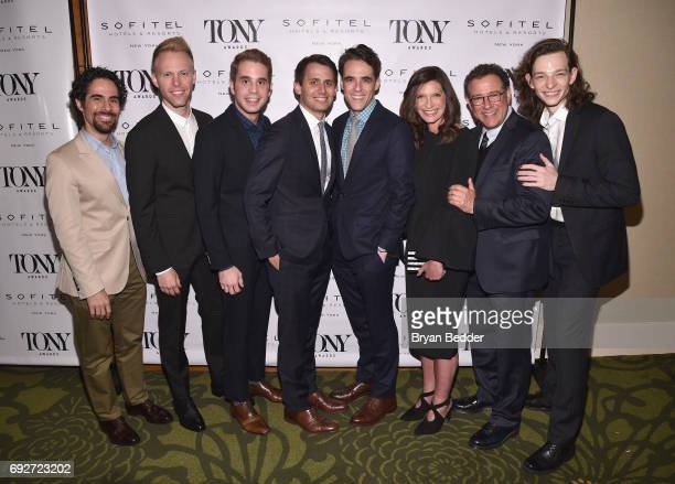 Alex Lacamoire Justin Paul Ben Platt Benj Pasek Steven Levenson Stacey Mindich Michael Greif and Mike Faist attend the Tony Honors Cocktail Party...