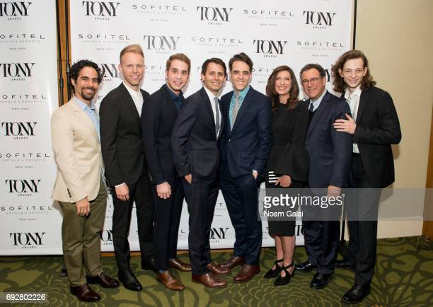 Alex Lacamoire Justin Paul Ben Platt Benj Pasek Steven Levenson Stacey Mindich Michael Greif and Mike Faist attend the 2017 Tony Honors cocktail...