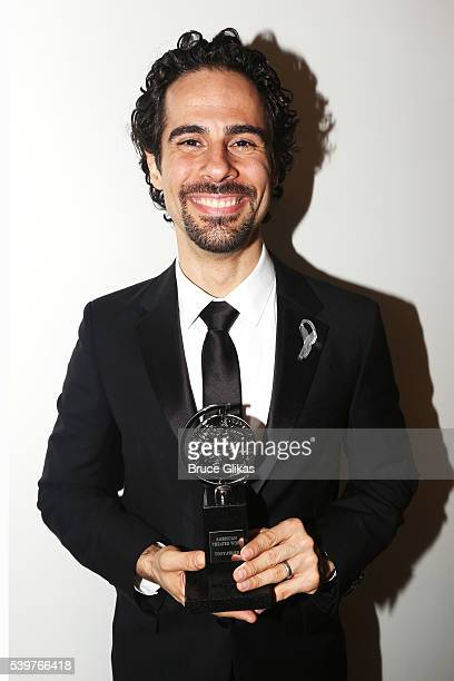 Alex Lacamoire poses with his award for Best Orchestrations at the 70th Annual Tony Awards Press Room at Beacon Theatre on June 12 2016 in New York...