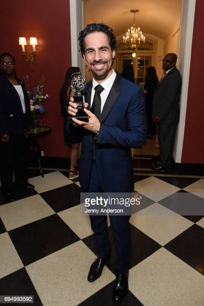 """Alex Lacamoire winner of the award for Best Orchestrations for """"Dear Evan Hansen"""" poses in the press room during the 2017 Tony Awards at 3 West Club..."""