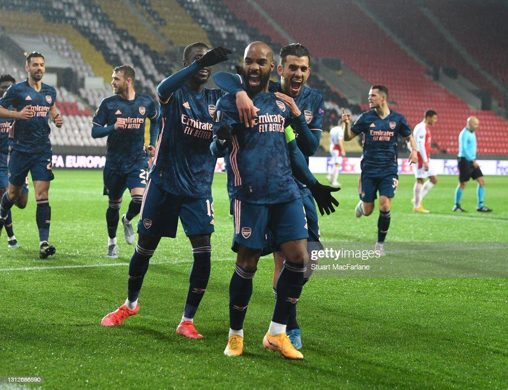 Slavia Praha v Arsenal FC - UEFA Europa League Quarter Final: Leg Two : ニュース写真
