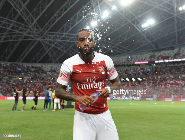 Alex Lacazette of Arsenal before the International Champions Cup 2018 match between Club Atletico de Madrid and Arsenal at the National Stadium on...