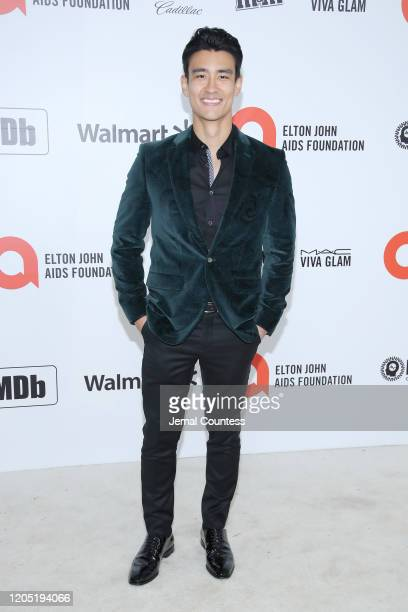 Alex Landi attends the 28th Annual Elton John AIDS Foundation Academy Awards Viewing Party sponsored by IMDb Neuro Drinks and Walmart on February 09...
