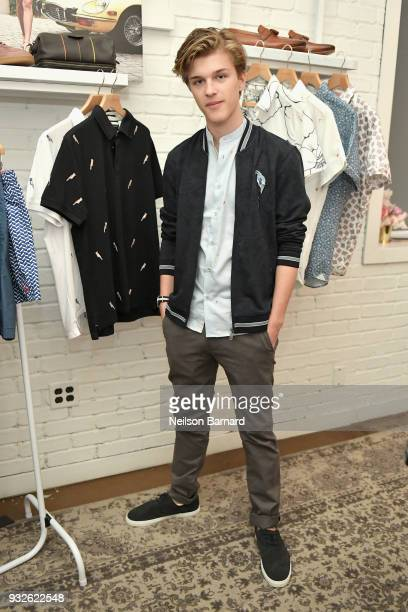 Alex Lang attends the Ted Baker London SS'18 Launch Dinner on March 15 2018 in Los Angeles California