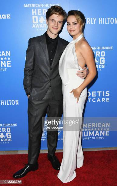 Alex Lange and Bailee Madison attend American Humane's 2018 American Humane Hero Dog Awards at The Beverly Hilton Hotel on September 29 2018 in...