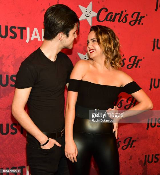 Alex Lange and Bailee Madison attend Just Jared's 7th Annual Halloween Party at Goya Studios on October 27 2018 in Los Angeles California