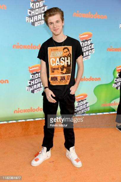 Alex Lange attends Nickelodeon's 2019 Kids' Choice Awards at Galen Center on March 23 2019 in Los Angeles California