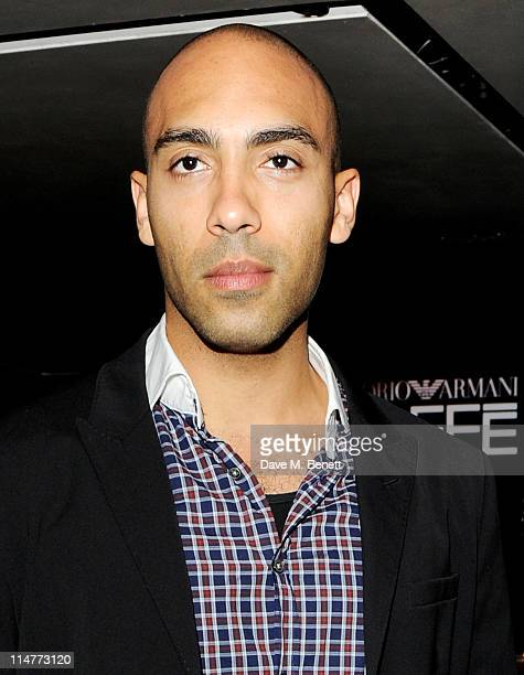 Alex Lanipekun attends the launch of the summer menu at the Emporio Armani Caffe on May 26 2011 in London England