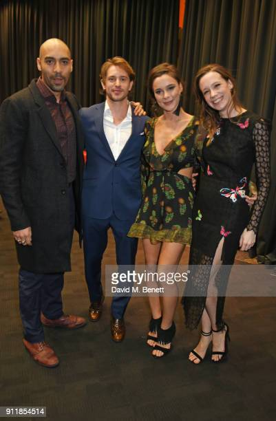 Alex Lanipekun Louis Hunter Bella Dayne and Chloe Pirrie attend an exclusive preview screening of new BBC One drama 'Troy Fall Of A City' at BFI...