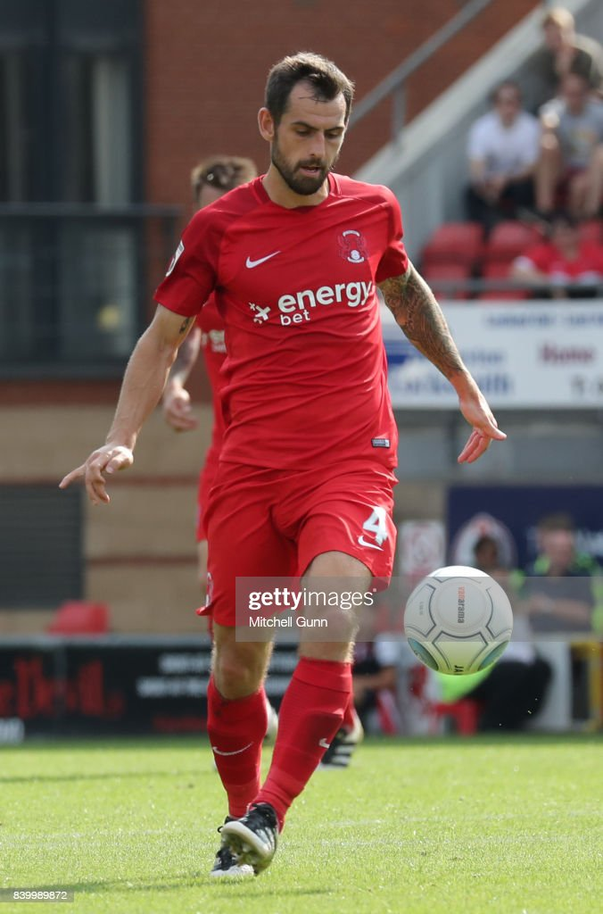 Alex Lawless of Leyton Orient during the National League match between Leyton Orient and Eastleigh at The Matchroom Stadium on August 26, 2017 in London, United Kingdom.