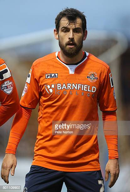 Alex Lawless of Luton Town in action during the Sky Bet League Two match between Luton Town and Northampton Town at Kenilworth Road on December 12...