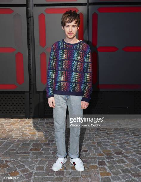 Alex Lawther arrives at the Gucci show during Milan Fashion Week Fall/Winter 2018/19 on February 21 2018 in Milan Italy