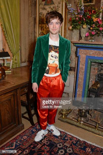 Alex Lawther attends a dinner hosted by Gucci to celebrate #GucciHallucination A Limited Line featuring artworks by Ignasi Monreal at Brunswick House...