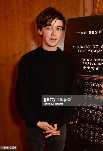Alex Lawther attends a drinks reception celebrating 'The Imitation Game' at The Westbury Hotel on December 18 2014 in London England