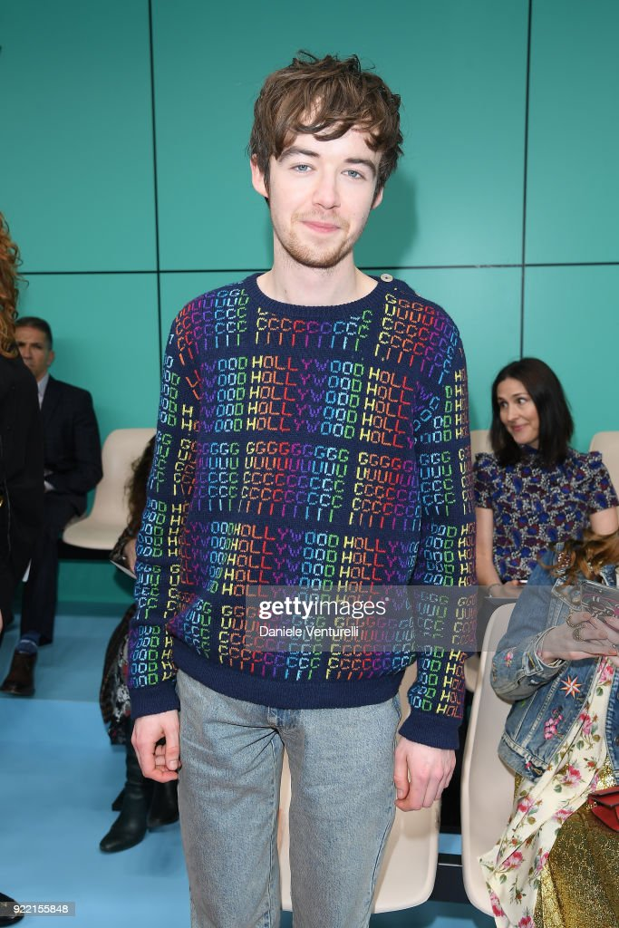 Alex Lawther attends the Gucci show during Milan Fashion Week Fall/Winter 2018/19 on February 21, 2018 in Milan, Italy.