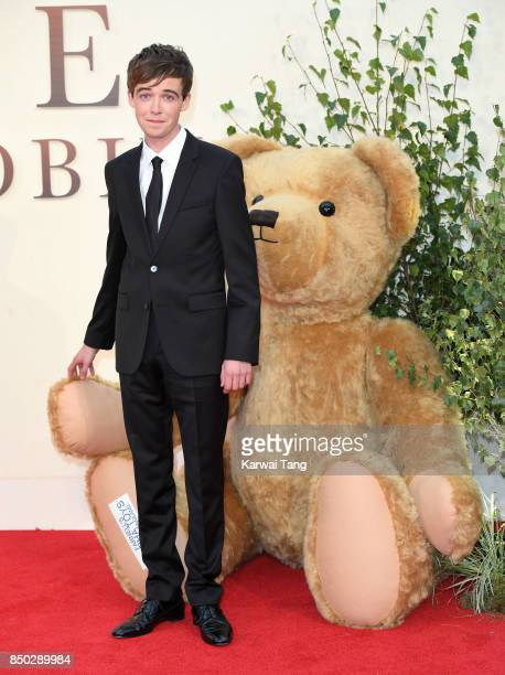 Alex Lawther attends the World Premiere of 'Goodbye Christopher Robin' at Odeon Leicester Square on September 20 2017 in London England