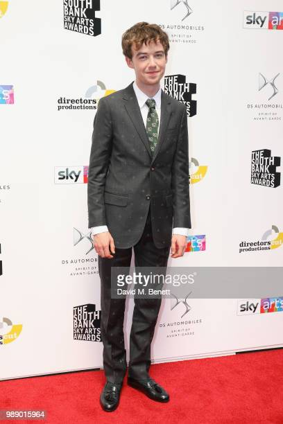 Alex LawtherÊattends The South Bank Sky Arts Awards 2018 at The Savoy Hotel on July 1 2018 in London England Airing on 4th July on Sky Arts