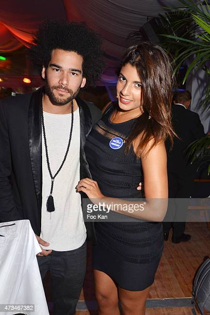 Alex Le Strat and TV presenter Donia Eden attend 'Les Filles A Fromage' Party The 68th Annual Cannes Film Festival at Nikki Beach l on May 14 2015 in...