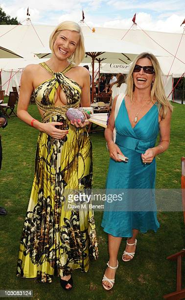 Alex Leigh and Charlotte Brosnan attend the Cartier International Polo Day at Guards Polo Club on July 25 2010 in Egham England