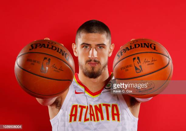 Alex Len of the Atlanta Hawks poses for portraits during media day at Emory Sports Medicine Complex on September 24 2018 in Atlanta Georgia