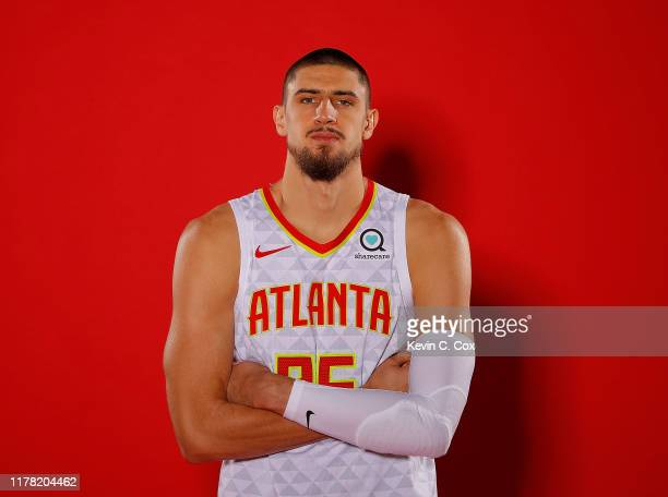 Alex Len of the Atlanta Hawks poses for portraits during media day at Emory Sports Medicine Complex on September 30 2019 in Atlanta Georgia