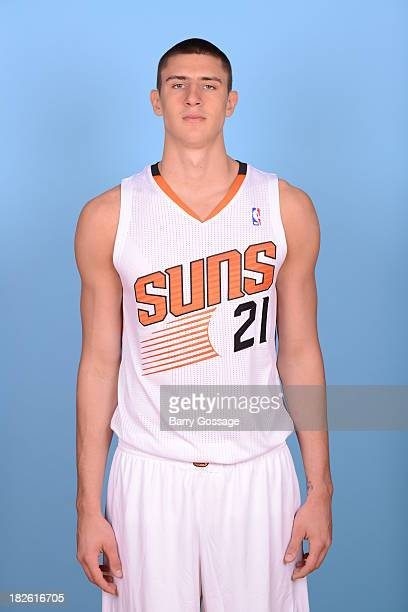 Alex Len of the Phoenix Suns poses for a portrait on Media Day on September 30 2013 at US Airways Center in Phoenix Arizona NOTE TO USER User...
