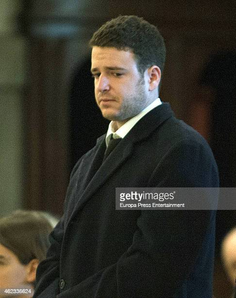 Alex Lequio attends the funeral service for Princess Sandra Torlonia grand daughter of King Alfonso XIII of Spain on January 08 2015 in Turin Italy