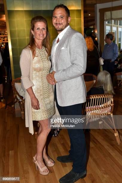 Alex Lerner and Nicky Ayattioni attend Cocktails to Learn About The Sag Harbor Cinema Project at Le Bilboquet on June 16 2017 in Sag Harbor New York