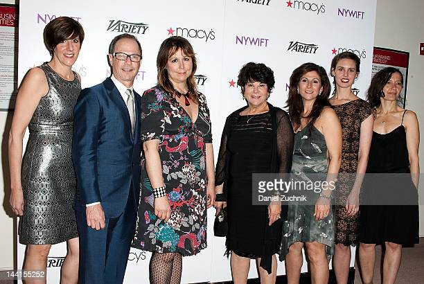Alex Levy John Dunn Lisa Padovani Francesca Paris Michelle Paris Amanda Miller and Kasia Walicka Maimone attend the NYWIFT's 13th Annual Designing...