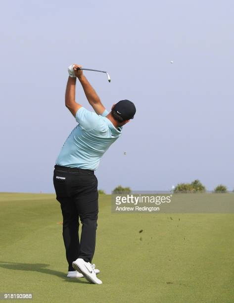 Alex Levy of France during the Pro Am prior to the start of the NBO Oman Open at Al Mouj Golf on February 14 2018 in Muscat Oman