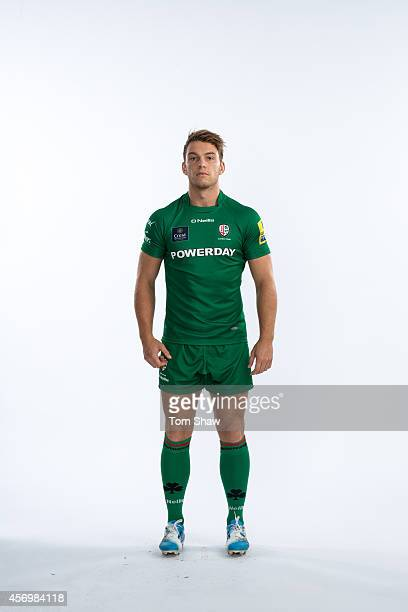 Alex Lewington of London Irish poses for a picture during the BT PhotoShoot at Sunbury Training Ground on August 27 2014 in Sunbury England