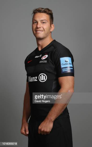 Alex Lewington of Saracens poses for a portrait during the Saracens squad photo call for the 201819 Gallagher Premiership Rugby season on August 13...
