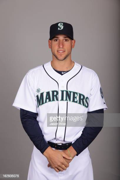 Alex Liddi of the Seattle Mariners poses during Photo Day on February 19 2013 at Peoria Sports Complex in Peoria Arizona